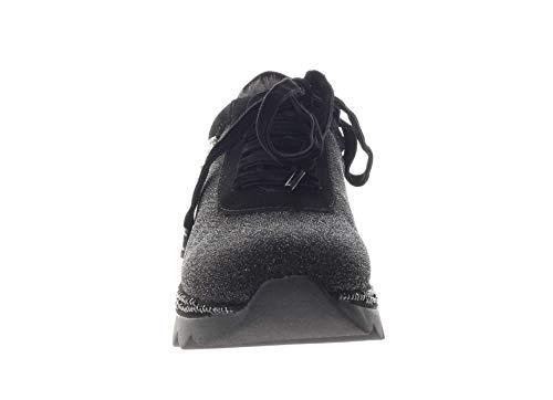 Noir Croûte Avec Jdb931 Sneakers Velours Cafè Et Nero Des Lacets Tissu En FdYgw