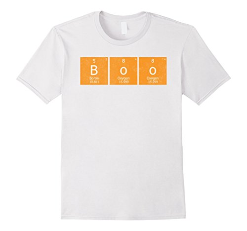 Mens Boo Periodic Table Distressed Halloween Teachers Gift Tshirt Small (Cool Halloween Costumes For High School)