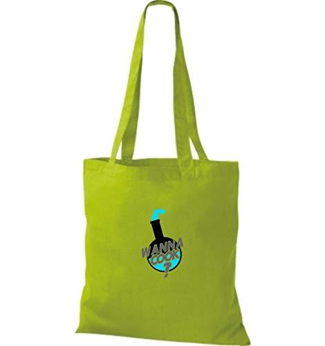 Verde Mujer Bolso Shirtstown Algodón Amarillo Tela Para Lima De qYqXpwz