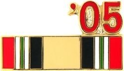 MilitaryBest 2005 Iraq Ribbon Pin ()