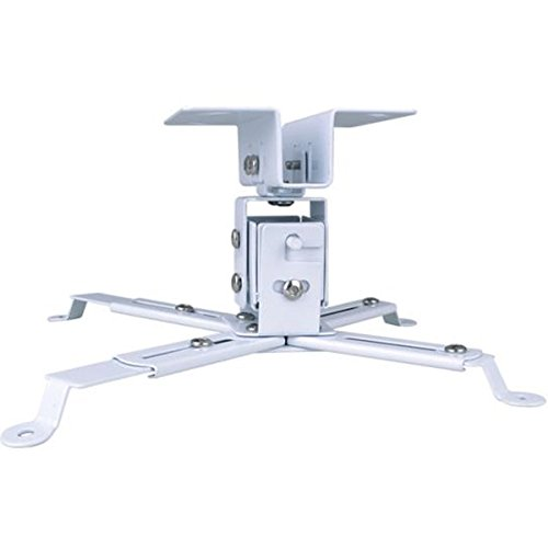 Deco Gear Extendable Projector Ceiling Mount, Multi-Angle, Adjustable Height - White by Deco Gear