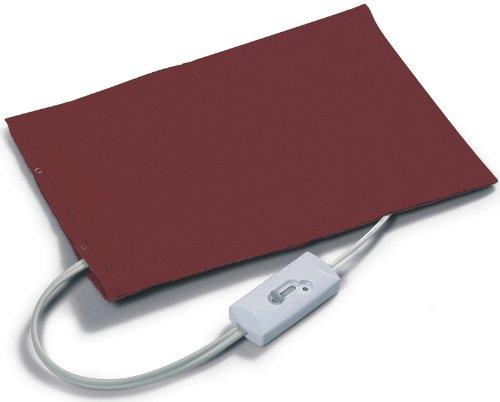 Wellness-Heizkissen ca. 30x42cm, elektrisches Wärmekissen, 3 Wärmestufen, abnehmbarer + waschbarer Kissen-Bezug, Bordeaux-rot