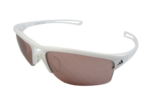 adidas raylor S a405-6051 Rectangle Sunglasses,Shiny White Frame/LST Active Silver Lens,One - Sunglasses Adidas
