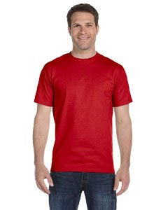 Gildan mens DryBlend 5.6 oz. 50/50 T-Shirt(G800)-RED-4XL