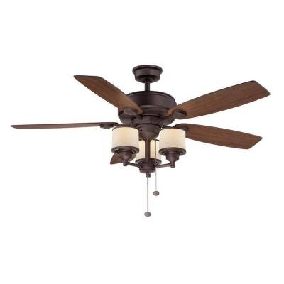 Hampton Bay Waterton II 52 in. Oil Rubbed Bronze Ceiling Fan