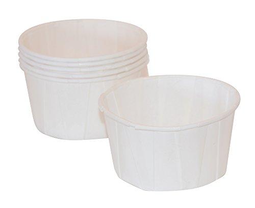 JA Kitchens 4 oz, Paper Souffle Portion Cups, Value Set of 500