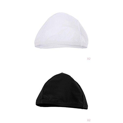 ツイン極めて重要な鳴らすFlameer 4枚セット ホワイト&ブラック ユニセックス ヘッドギア バイク クイックドライ  スカル 帽子  アウトドア サイクリング 柔らかい