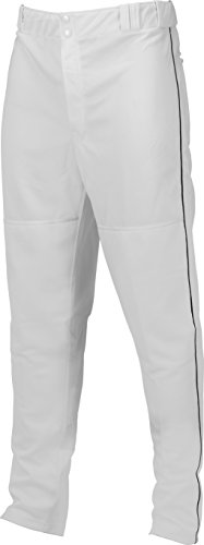 Marucci Youth Elite Double Knit Piped Baseball Pant, White/Black, ()