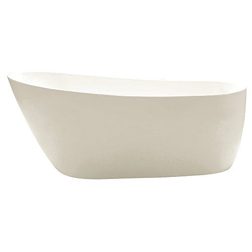 KINGSTON BRASS VTRS592928 59-Inch Contemporary Freestanding Acrylic Bathtub, (Acrylic Freestanding Air Bathtub)