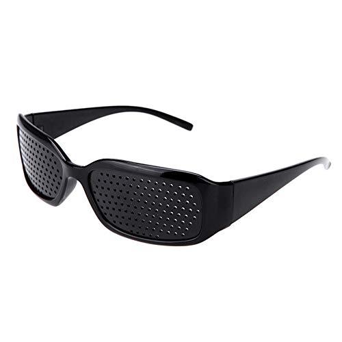 MonLiya 2Pack Pinhole Sunglasses Black Anti-Fatigue Vision Care Pin Hole Microporous Glasses Eye Exercise Eyesight Natural Healing Eyeglass Black Exercise Eyesight Women Men