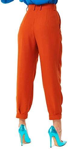 Denny Rose Pantalon, Femme, à Double Plis, Taille Haute. Art. A/H 2020/21, 021DD20015 Taille EU/IT 40