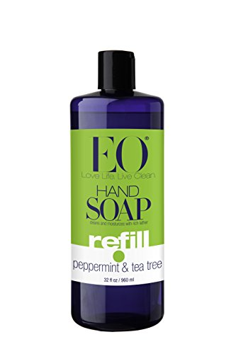 EO Botanical Liquid Hand Soap Refill, Peppermint & Tea Tree, 32 Ounce