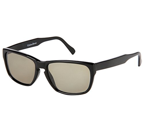 Cristiano Ronnie Jet Black Rectangular Sunglasses