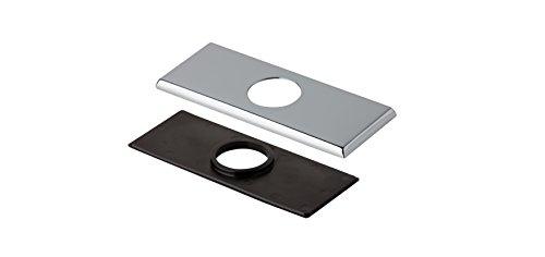 Danze DA607568 Centerset Square Lavatory Faucet Cover Plate, 4-Inch, Chrome