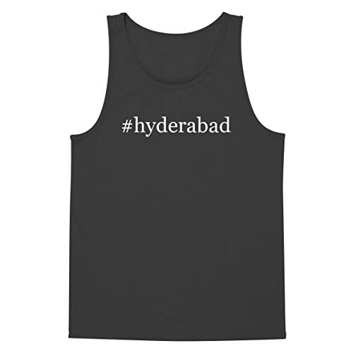 The Town Butler #Hyderabad - A Soft & Comfortable Hashtag Men's Tank Top, Grey, XX-Large