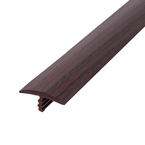 (Outwater Plastic T molding 13/16 Inch Wide Dark Cherry Woodgrain Flexible Polyethylene Center Barb Tee Moulding 250 Foot Coil Commercial Pack)