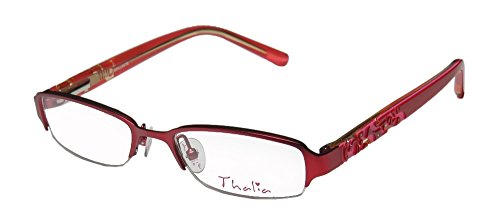 thalia-brillante-childrens-kids-girls-designer-half-rim-eyeglasses-glasses-48-17-130-red-pink