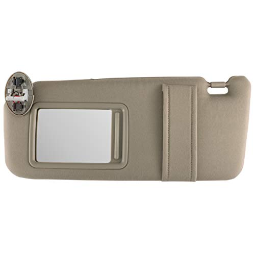 Auto Sunroof - IAMAUTO 10735 New Sun Visor Left Driver Side Tan for 2007 2008 2009 2010 2011 Toyota Camry with Sunroof and Light