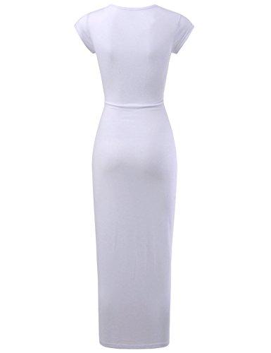 white Nearkin Ad Nknkwbd801 Linea A Vestito Senza Maniche Donna Rqqwvp8rax