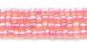 Preciosa Ornela Czech 3-Cut Style Seed Glass Bead, Size 9/0, Color Lined Fuchsia ()
