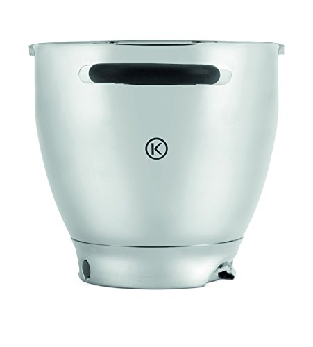 Kenwood Stainless Steel Bowl KAT911SS Cooking Chef 6.7 Litres Dishwasher-Safe ()