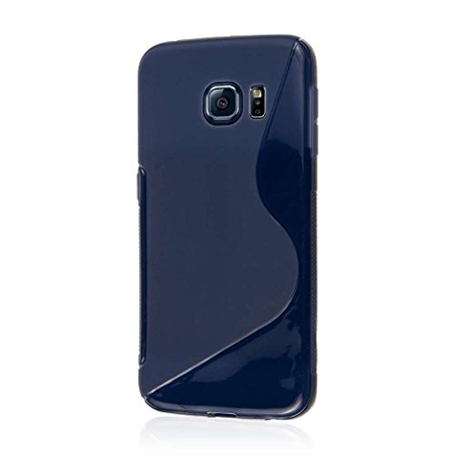 Samsung Galaxy S6 Edge Case, MPERO FLEX S Series Soft Textured Non Slip Flexible TPU Slim Case for Galaxy S6 Edge [Perfect Fit & Precise Port Cut Outs] - Navy Blue