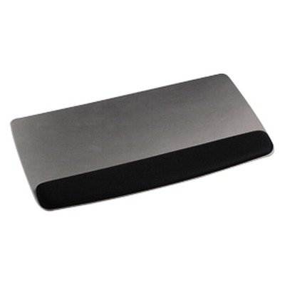 3M/COMMERCIAL TAPE DIV WR420LE 3M Gel Professional ll Series Keyboard Wrist Rest, Black/Metallic Gray