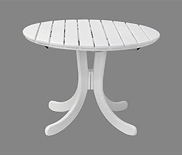 Gartentisch Sylt Oval Ausziehbar Holz Weiss Lackiert Qualitat