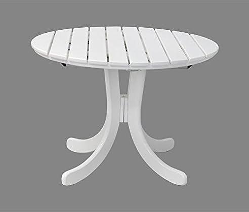 Gartentisch oval ausziehbar  Gartentisch Sylt oval - ausziehbar- Holz weiß lackiert - Qualität ...