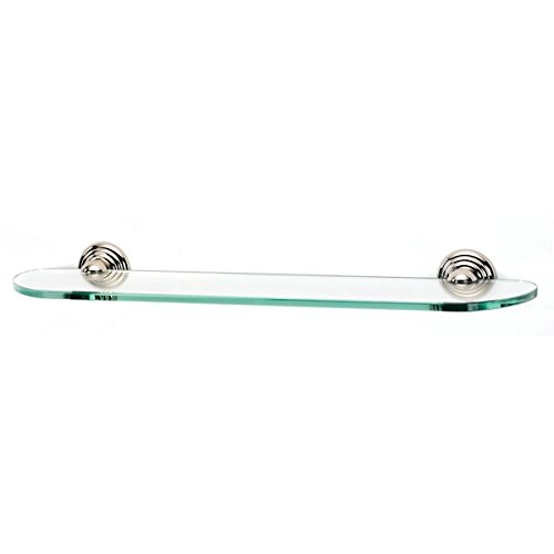 - Alno A9050-24-PN Embassy Traditional Glass Shelf with Brackets, 24
