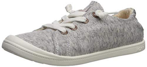 Roxy Women's Bayshore Slip On Sneaker Shoe, Heather Grey, 5 M US ()
