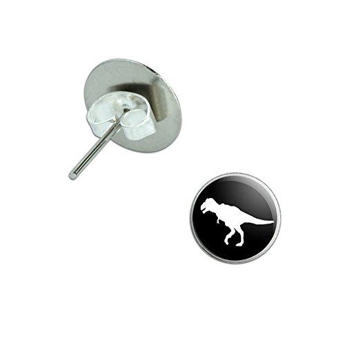 Dinosaur Tyrannosaurus Novelty Silver Earrings