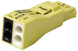 Brass Electronic Ballast - 2-port Ballast Umi-nuts - Push Wire - Connector for Luminaire Disconnect - Wago 873-902/k19-4045 Ul924 Listed for the U.s and Canada Wall Mounted Rectangular Shape 100% Protected Against Mis Mating