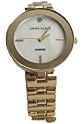 Anne Klein AK/2076MPGB Mother-of-Pearl Gold Tone Diamond Women's Watch
