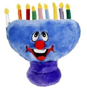 Toy Plush Smiling Menorah (8.5 x 8.5)