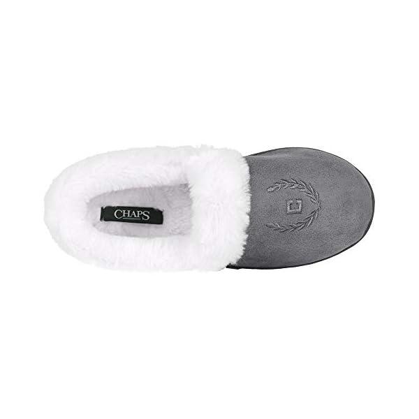Chaps Women's House Slipper Moccasin Warm Fuzzy Memory Foam Micro Suede Indoor Outdoor Comfort