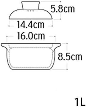 UWY Casserole Casserole Plats avec couvercles - Casserole de santé en céramique résistante à la Chaleur Casserole Ragoût Pot-1L