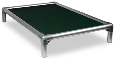 Kuranda All-Aluminum (Silver) Chewproof Dog Bed - Large (40x25) - Ballistic Nylon - Forest Green by Kuranda