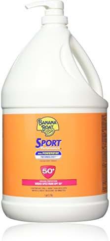 Banana Boat Sport Performance Broad Spectrum Sunscreen Lotion with Powerstay Technology, SPF 50, 1 Gallon Pump Bottle