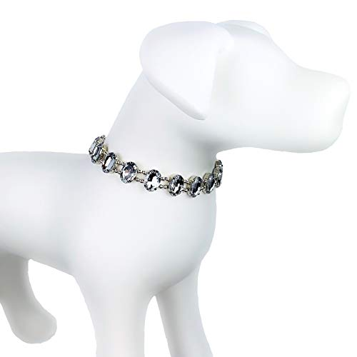 My Other Best Friend (MOBF) The Diana Gorgeous Sparkly Rhinestone Pet Fashion Collar Necklace