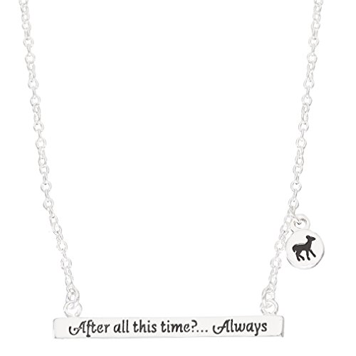 HARRY POTTER Silver Plated After All This Time...Always Bar Necklace, 18