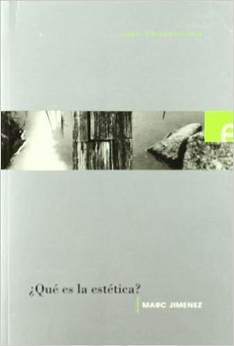 ¿que es la estetica? (Universitaria)