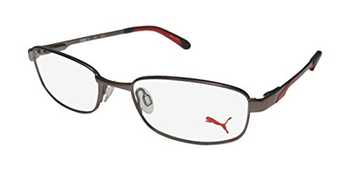 Puma 15409 Mens/Womens Flexible Hinges Classic Shape Adults Affordable TIGHT-FIT Designed For Jogging/Cycling/Sports Activities Eyeglasses/Glasses (49-17-135, ()