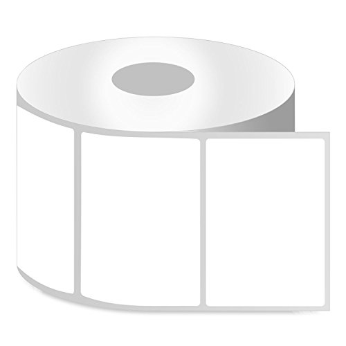 OfficeSmartLabels ZR1300200 Removable 3 x 2 Inch Direct Thermal Labels, Compatible with Zebra Printers (1 Roll, White, 750 Labels Per Roll, 1 inch Core)