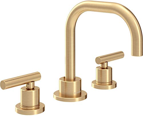 Symmons SLW-3512-BBZ-1.5 Dia Widespread 2-Handle Bathroom Faucet with Drain Assembly in Brushed Bronze (1.5 GPM)