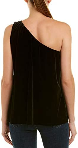 French Connection Women's Aurore Velvet One Shoulder Sleeveless Top