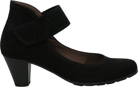 Gabor Donna 55-493 Mary Jane Tacco, Pelle Nabuk Nera, Uk 6,5 M