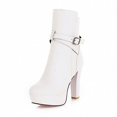 RTRY Women'S Boots Spring Fall Winter Platform Comfort Novelty Patent Leather Leatherette Wedding Office &Amp; Career Dress Casual Party &Amp; Evening US8 / EU39 / UK6 / CN39 fjFQqK9