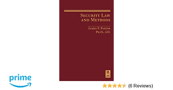 security law and methods pastor james
