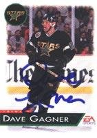 Dave Gagner Dallas Stars 1993 EA Sports Autographed Card. This item comes with a certificate of authenticity from Autograph-Sports. Autographed ()